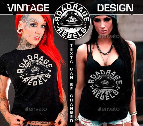 Vintage Custom Streetwear T-Shirt Design