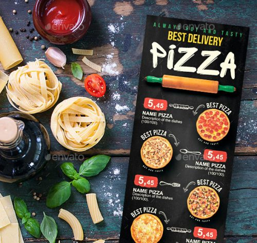 25 pizza and burger menu design templates to feast your
