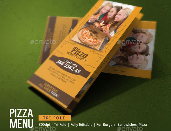 Pizza Delivery Brochure Template