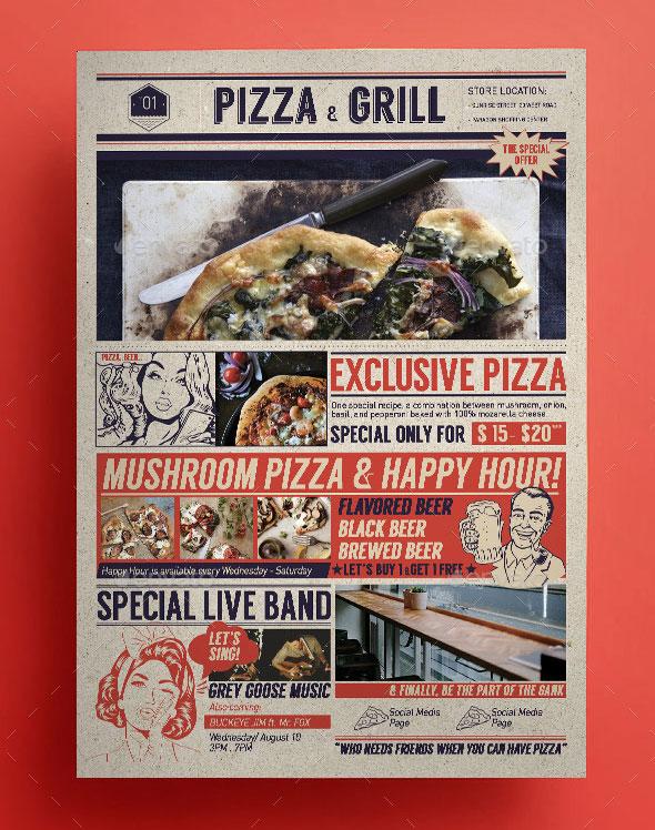 Pop Art Pizza Flyer
