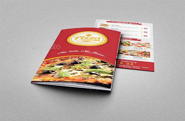 Pizza Restaurant Trifold Menu