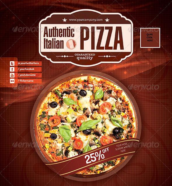 Pizza / Restaurant PSD flyer