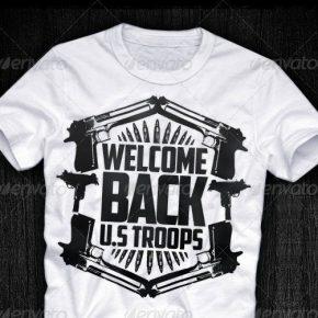 22 Black & White T-shirt Design Templates - EPS & PSD