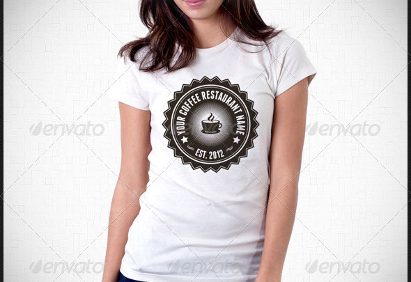 Coffee Restaurant Uniform T-Shirt Template