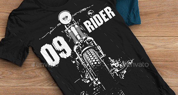 T-shirt Design Moto Rider