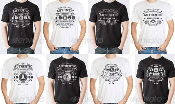 Authentic Vintage T-Shirt Templates