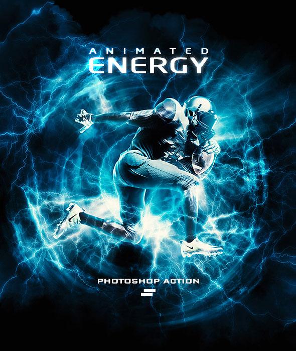 Gif Animated Energy Light Effects Photoshop Action