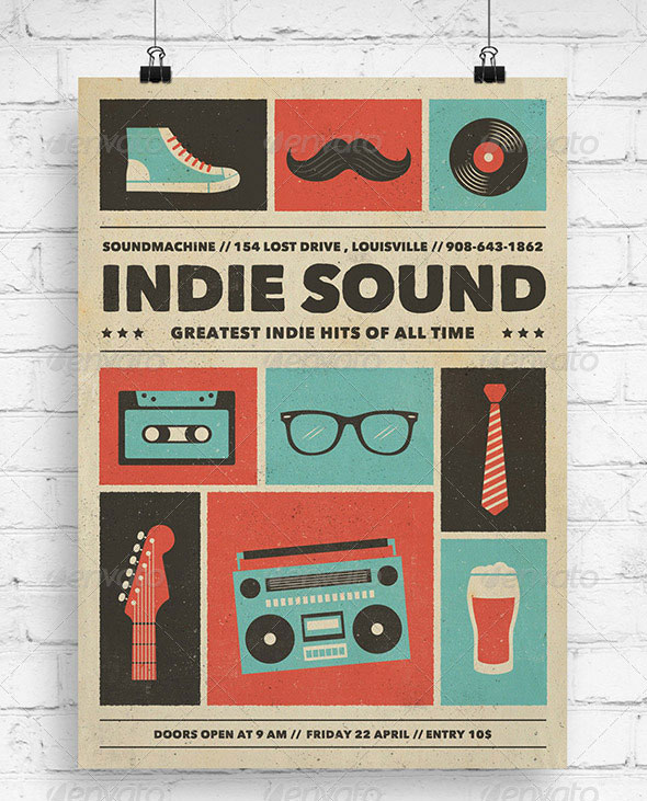 Indie Sound - Music Flyer/Poster