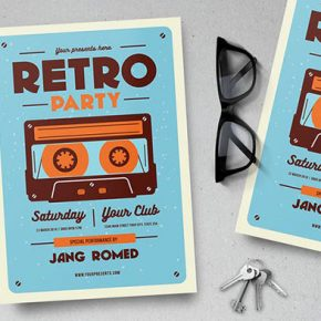 25 Modern Retro Flyer Design Templates