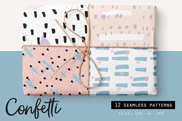 Confetti Style Patterns