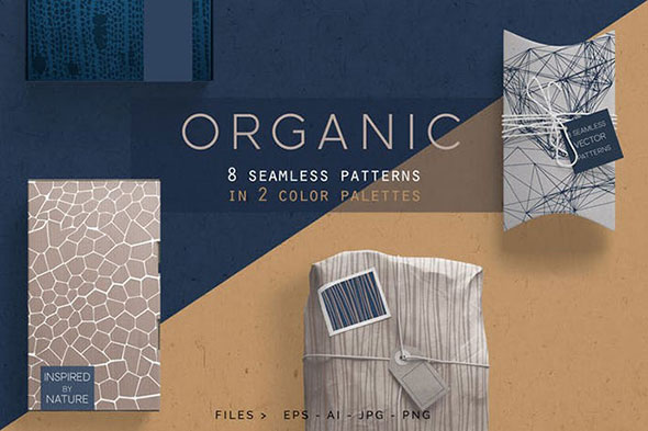 Organic Patterns - 2 color palettes