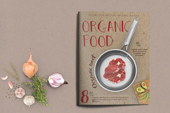 Organic Food Brochure / Magazine