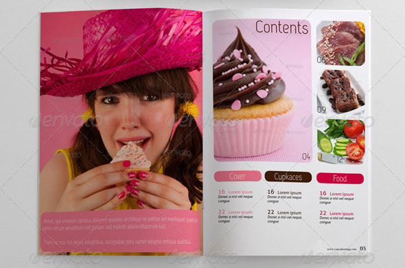 48 Pages Food Magazine Template