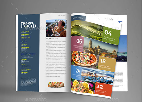 Travel & Food Magazine Template
