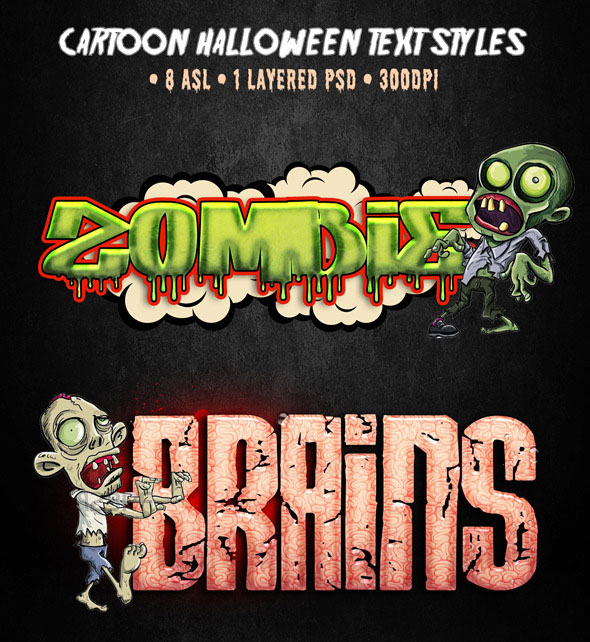 Cartoon Halloween Text Styles