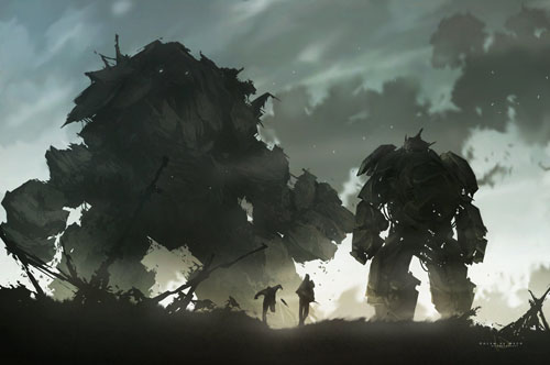 Golem_vs_Mech_by_keepwalking-7