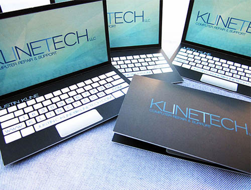 Laptop Design Business Card4