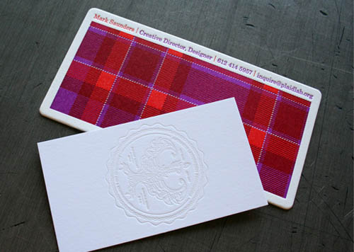 PlaidPatternBusinessCards6