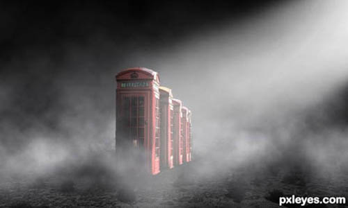 Surreal Atmospheric Phone Booth Scenery32