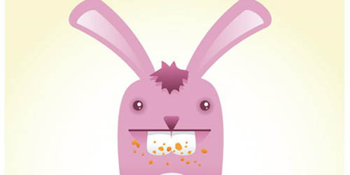 Cute Bunny Vector Character_84
