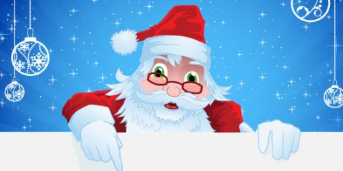 Cute Santa in Illustrator_97