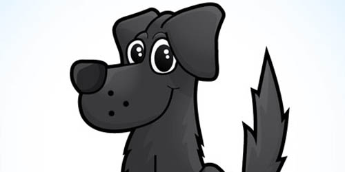 Cute Vector Dog Character in Illustrator_103