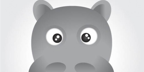 Face Of A Hippo Using Illustrator_106