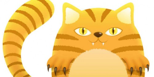 Tiger Striped Cat with Illustrator_101