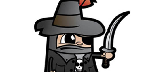 Vector Pirate Cartoon Character from a Hand Drawn Sketch_29