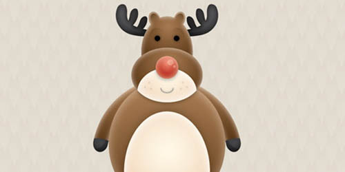 Vector Reindeer Character in Illustrator_100