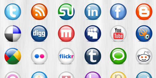 24 glossy social media icons (PSD & PNG)_10
