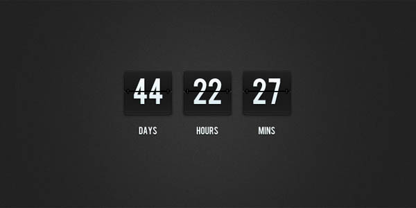 Flip Clock Countdown PSD_92