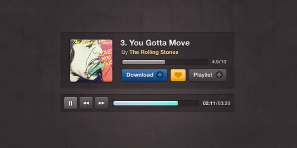 Free Compact Music Player Design PSD_75