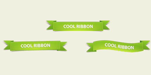 Green Ribbons Pack PSD_90