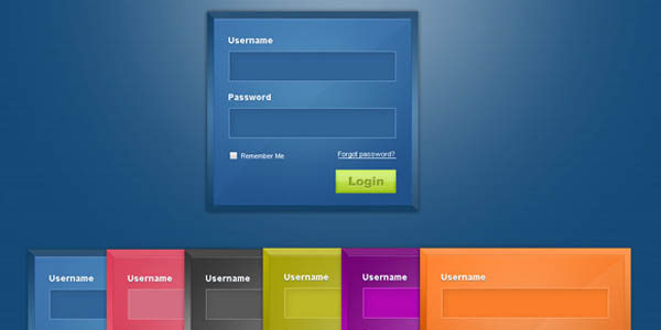 Login Forms Free PSD_58