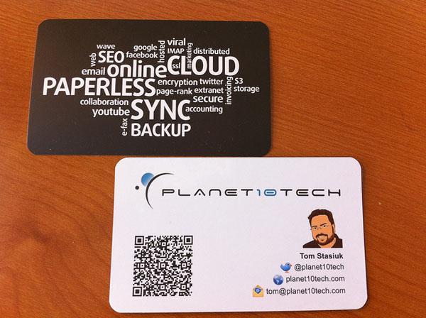 Planet10tech business card with QR Code_19