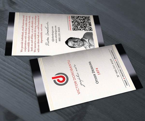 Wine bottle label business card_9