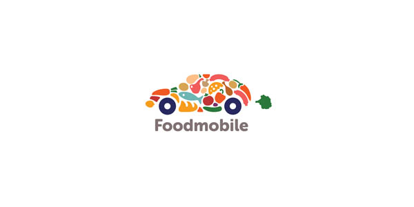 foodmobile logo design
