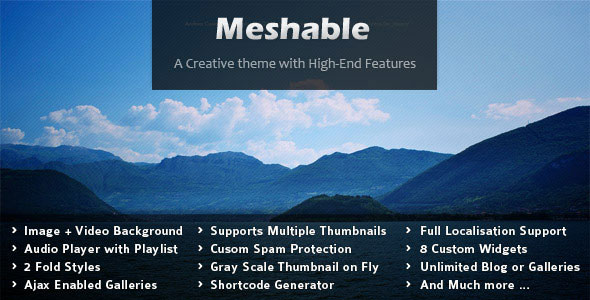 Meshable - Photography & Personal Fullscreen Theme
