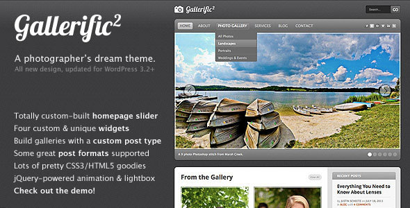 Gallerific - Photography WordPress Theme