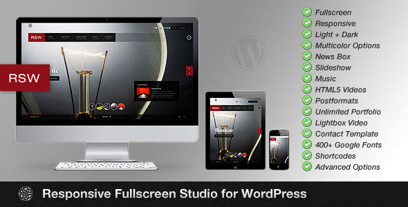 Responsive Fullscreen Studio for WordPress
