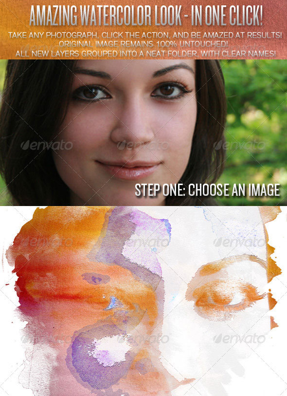 Creative Watercolor Photoshop Action