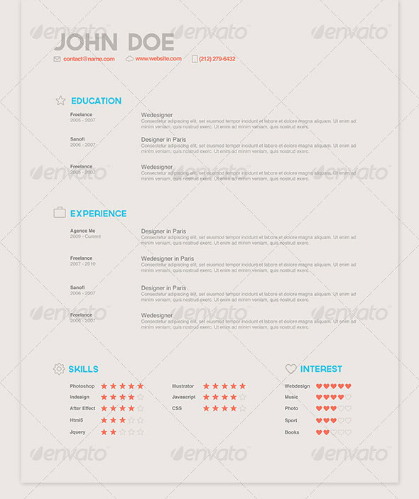 Cream Style Resume Pack