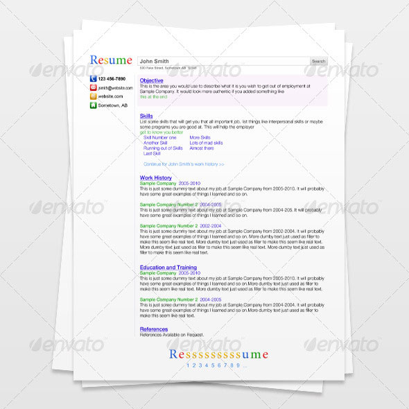 Search Engine Resume