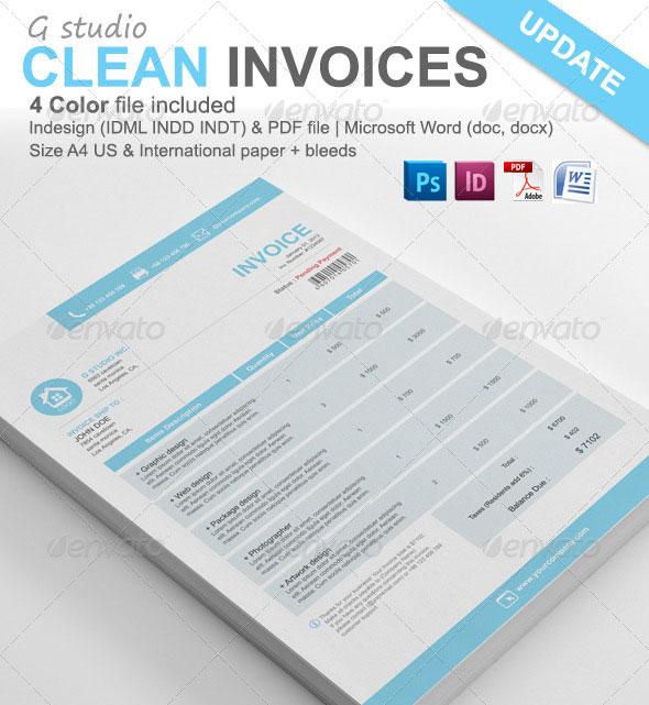 Gstudio Clean Invoices Template