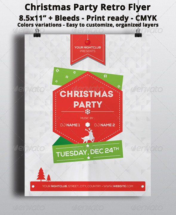Christmas Party Retro Flyer
