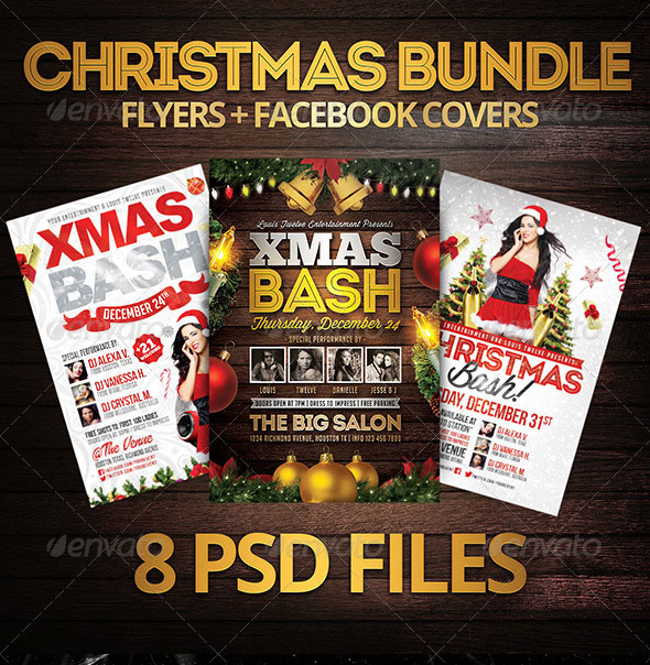 Christmas Bundle | Flyers   FB Covers
