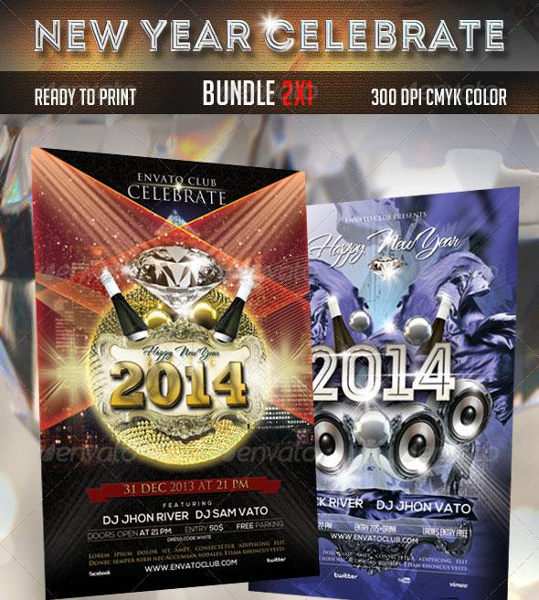 New Year Flyers Bundle