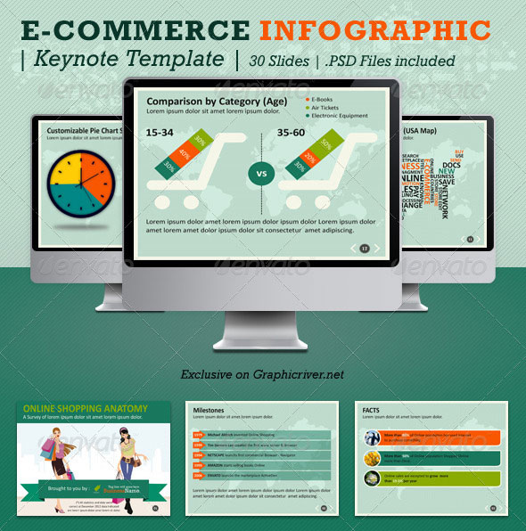 E-Commerce Infographic Keynote Template