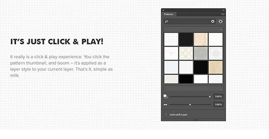 Subtle Patterns Photoshop Plugin